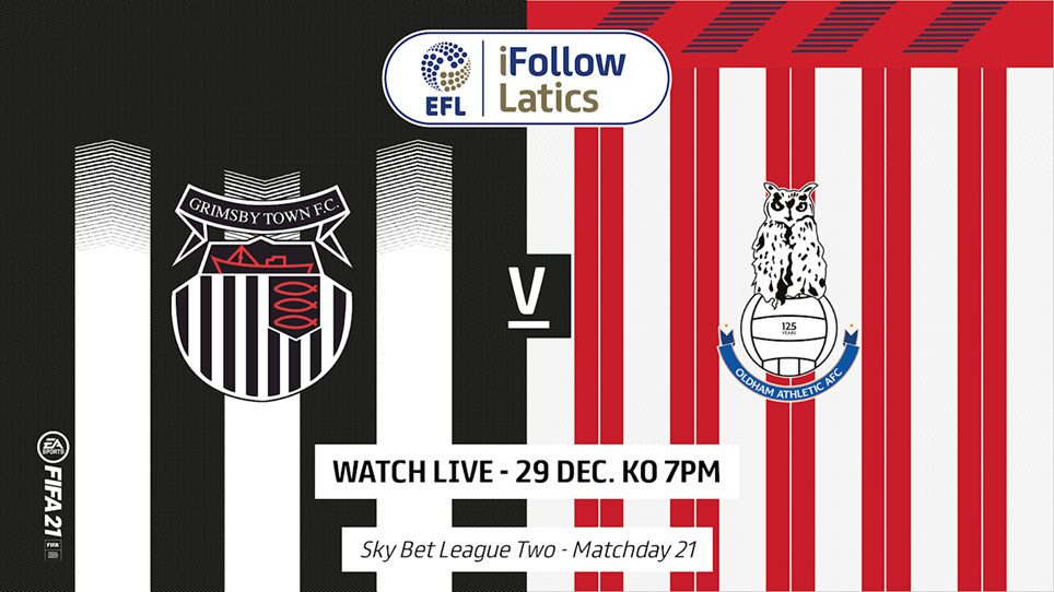 Grimsby Town Vs Oldham Athletic On 29 Dec 20 Match Centre Oldham Athletic