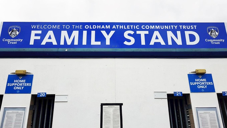 oldham athletic community trust named family stand sponsor news